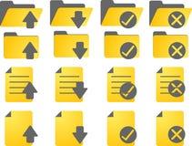 иконы документа Стоковое Изображение