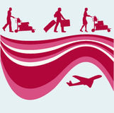 航空传单旅行 免版税库存图片