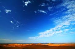 небо пустыни Стоковое Изображение