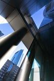 蓝色办公室 免版税库存图片