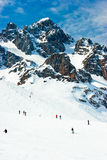 滑雪倾斜 免版税库存照片