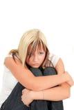 消沉女孩年轻人 免版税库存照片