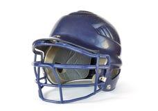голубая каска бейсбола Стоковая Фотография