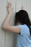 青少年沮丧的女孩 库存图片