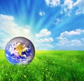 接地地球草绿色 免版税库存图片