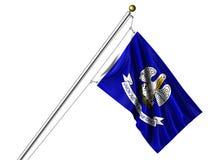 Луизиана изолированная флагом Стоковые Изображения