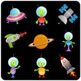 космос комплекта элементов Стоковые Фотографии RF