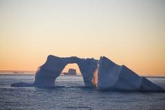 приантарктический айсберг Стоковая Фотография