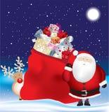 巨大的大袋圣诞老人 免版税库存图片
