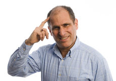επικεφαλής άτομο χεριών Στοκ εικόνες με δικαίωμα ελεύθερης χρήσης