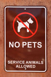 没有宠物符号 免版税库存图片