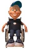 孩子轮椅 库存照片
