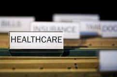 被标记的文件夹医疗保健 库存图片