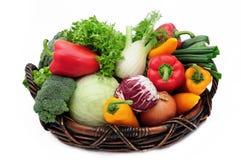 篮子蔬菜 图库摄影