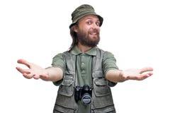 拥抱摄影师游人 库存图片