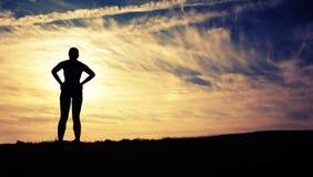 美丽的赛跑者妇女 免版税图库摄影