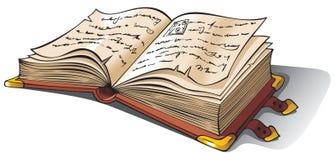стародедовская раскрытая книга Стоковая Фотография RF