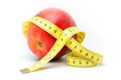 苹果厘米红色 免版税库存照片