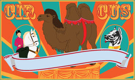 плакат цирка Стоковая Фотография RF