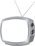 空白减速火箭的电视 免版税库存照片
