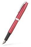 изолированный чернилами красный цвет пер Стоковое фото RF