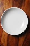 κενό λευκό πιάτων Στοκ Εικόνες
