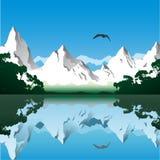 гора ландшафта Стоковая Фотография