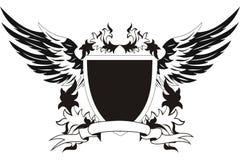 εκλεκτής ποιότητας φτερά ασπίδων Στοκ Εικόνα