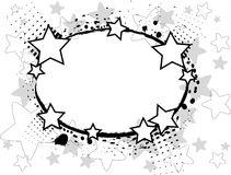 黑色星形 免版税库存照片