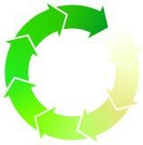зеленый цвет стрелок Стоковые Фото