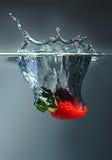 φράουλα παφλασμών Στοκ φωτογραφία με δικαίωμα ελεύθερης χρήσης