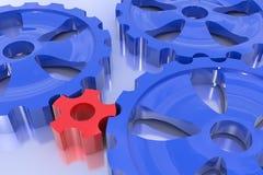 шестерня движущей сила принципиальной схемы одно другое поворачивает Стоковое Изображение RF