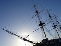 双桅帆船 库存图片