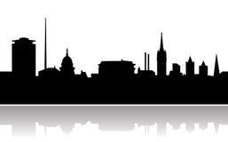 城市都伯林地平线向量 库存图片