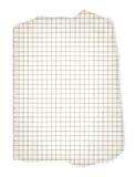 приданная квадратную форму бумага сорванной Стоковая Фотография