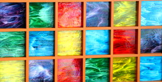 покрашенные блоки стеклянными Стоковая Фотография RF