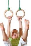 гимнастика будущего чемпиона Стоковые Фото