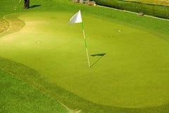 路线高尔夫球 免版税库存图片
