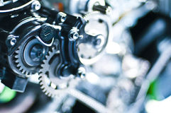 详细引擎摩托车 免版税库存照片