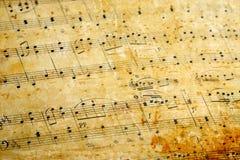 σημείωση μουσικής Στοκ φωτογραφία με δικαίωμα ελεύθερης χρήσης
