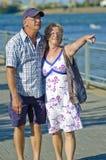 变老的夫妇 图库摄影