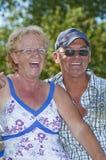 变老的夫妇 免版税库存照片