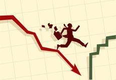 вектор иллюстрации бизнесмена смешной Стоковые Фотографии RF