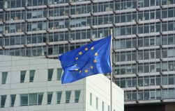 ευρωπαϊκή ένωση σημαιών Στοκ εικόνες με δικαίωμα ελεύθερης χρήσης