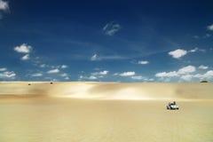 巴西新生儿童车的沙丘 库存图片