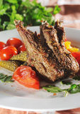 καυτό κρέας αρνιών πιάτων κόκ Στοκ Εικόνες