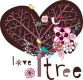 设计可爱的结构树 库存图片