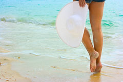гулять пляжа Стоковое Изображение