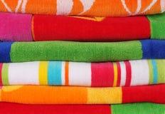 полотенца пляжа Стоковое фото RF