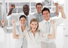 企业微笑的小组 免版税库存照片